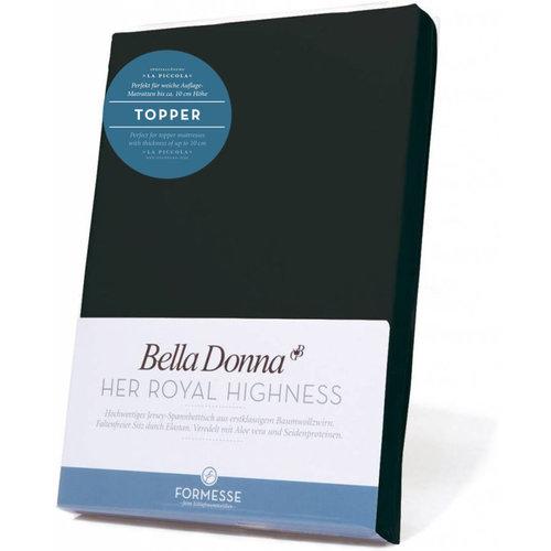 Formesse Bella Donna La Piccola topper hoeslaken Jersey zwart