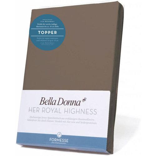 Formesse Bella Donna La Piccola topper hoeslaken Jersey truffel