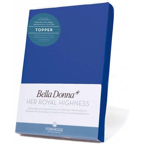 Formesse Bella Donna La Piccola topper hoeslaken Jersey royal blauw
