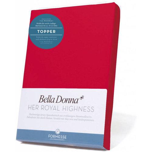 Formesse Bella Donna La Piccola topper hoeslaken Jersey rood