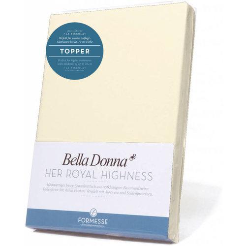 Formesse Bella Donna La Piccola topper hoeslaken Jersey poeder