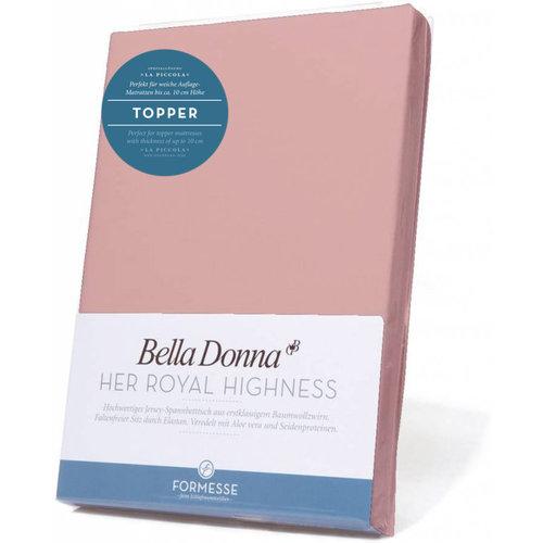 Formesse Bella Donna La Piccola topper hoeslaken Jersey oudroze