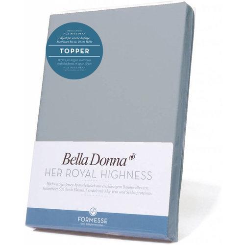 Formesse Bella Donna La Piccola topper hoeslaken Jersey lichtgrijs