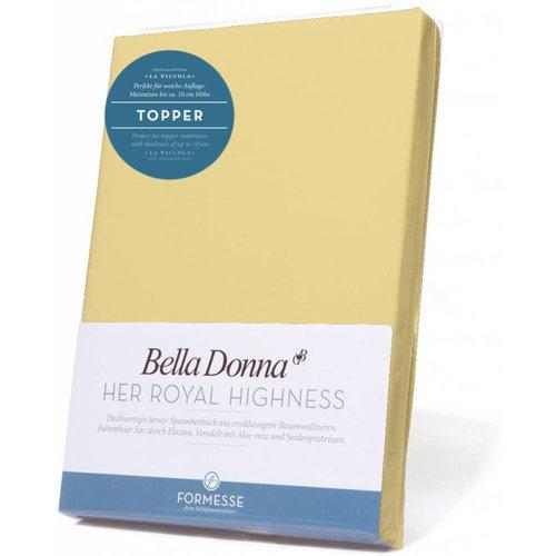 Formesse Bella Donna La Piccola topper hoeslaken Jersey lichtgeel
