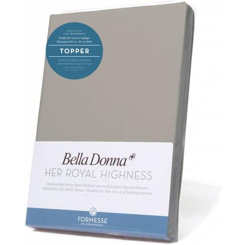 Formesse Bella Donna La Piccola topper hoeslaken Jersey grijs