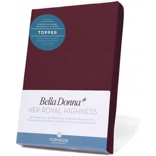 Formesse Bella Donna La Piccola topper hoeslaken Jersey cabernet