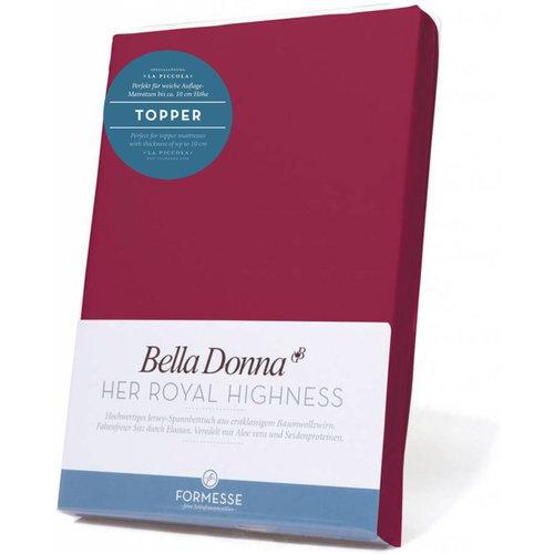 Formesse Bella Donna La Piccola topper hoeslaken Jersey bordeaux