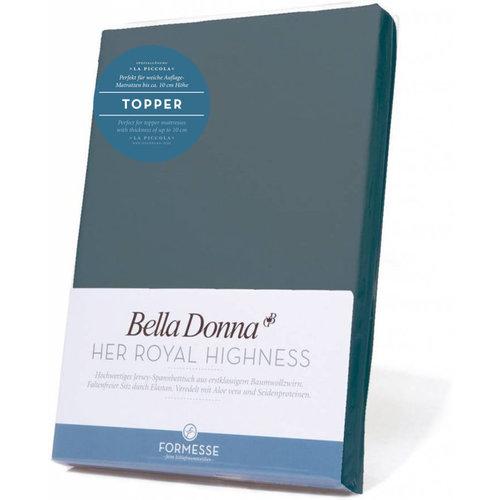 Formesse Bella Donna La Piccola topper hoeslaken Jersey blauwgrijs