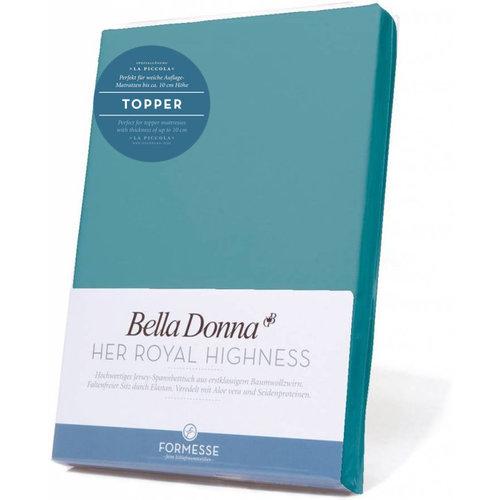 Formesse Bella Donna La Piccola topper hoeslaken Jersey arctisch blauw