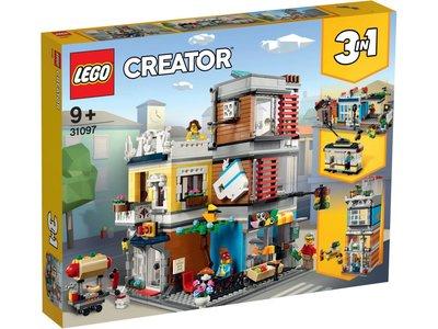 LEGO Creator 31097 Woonhuis dierenwinkel & café