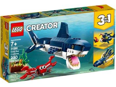 LEGO Creator 3 in 1 31088 Diepzeewezens