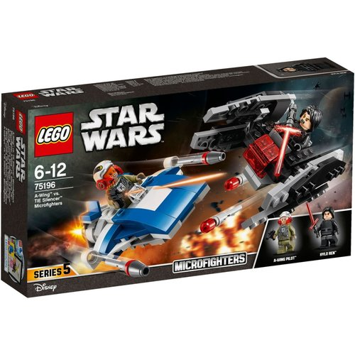 LEGO Star Wars 75196 A-wing vs. TIE Silencer microfighters