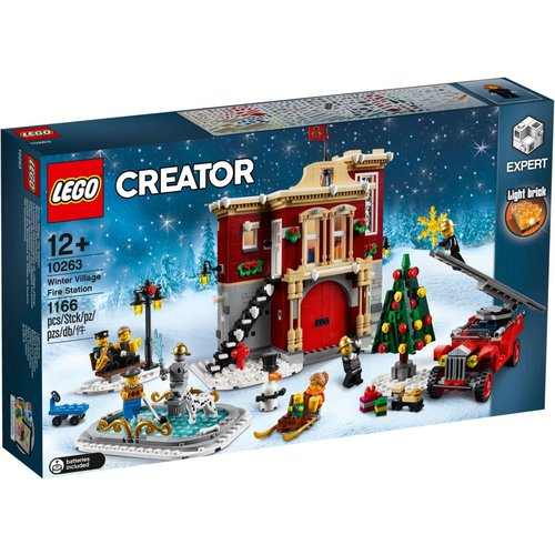 LEGO Creator Expert 10263 Brandweerkazerne in winterdorp