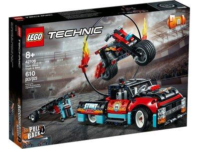 LEGO Technic 42106 Truck en Motor voor Stuntshow