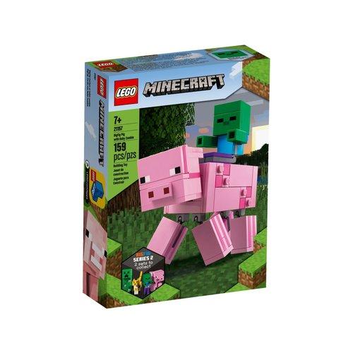 LEGO Minecraft 21157 Varken met Babyzombie