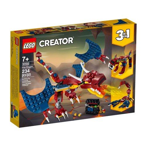 LEGO Creator 3 in 1 31102 Vuurdraak