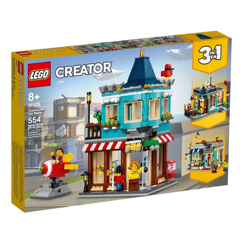 LEGO Creator 3 in 1 31105 Woonhuis en Speelgoedwinkel