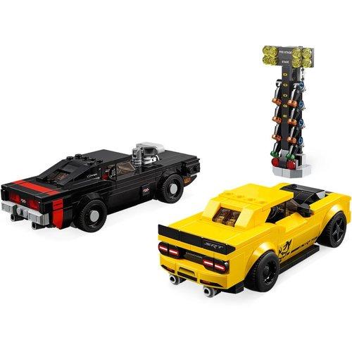 LEGO Speed Champions 75893 2018 Dodge Challenger SRT Demon en 1970 Dodge Charger R/T