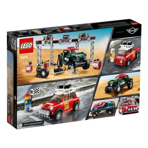 LEGO Speed Champions 75894 1967 Mini Cooper S Rally en 2018 MINI John Cooper Works Buggy
