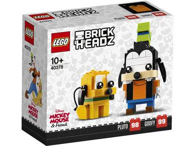 LEGO Brickheadz 40378 Goofy en Pluto