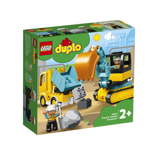 LEGO DUPLO 10931 Truck en Graafmachine met rupsbanden