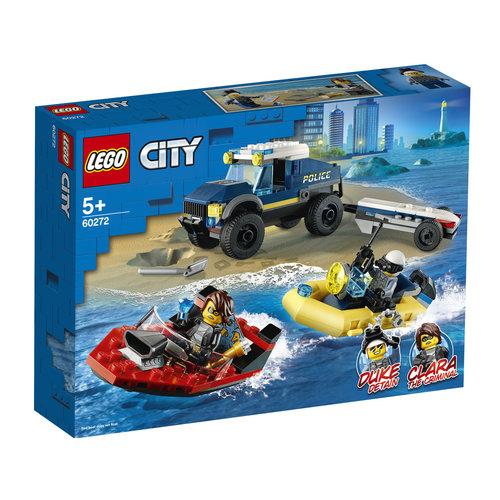 LEGO City 60272 Elite politieboot transport