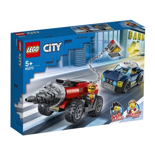 LEGO City 60273 Elite Politie achtervolging boorder