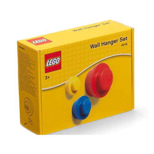 LEGO Wandhaak set - Geel/Blauw/Rood