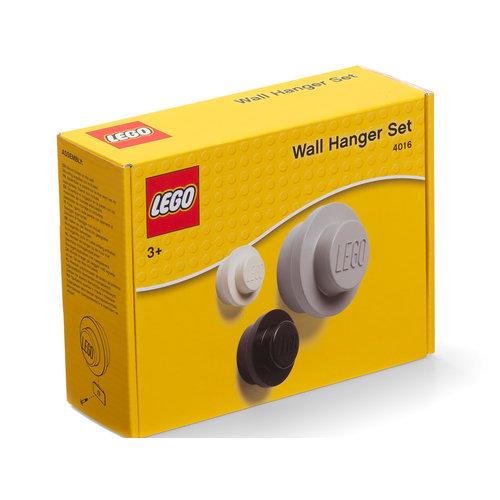 LEGO Wandhaak set - Wit/Zwart/Grijs