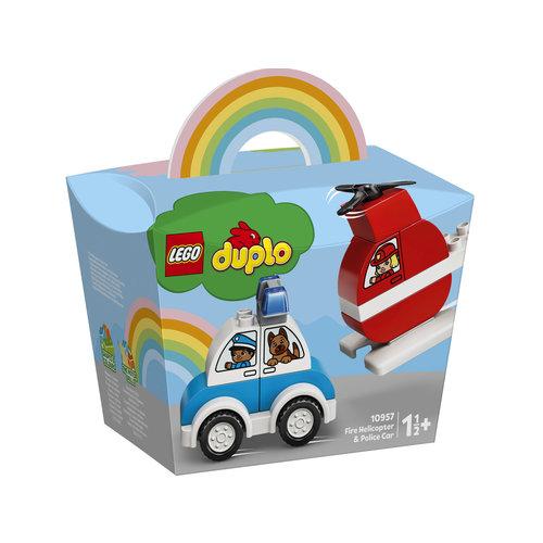 LEGO DUPLO 10957 Brandweerhelikopter en politiewagen