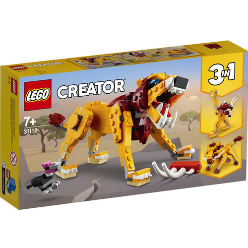 LEGO Creator 3 in 1 31112 Wilde leeuw