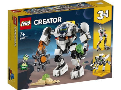 LEGO Creator 3 in 1 31115 Ruimtemijnbouw-mecha