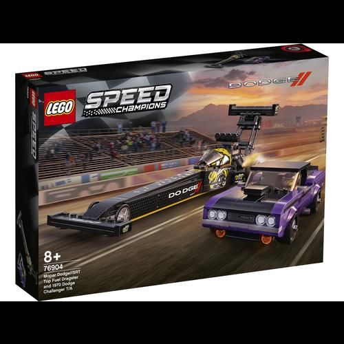 LEGO Speed Champions 76904 Mopar Dodge/SRT Top Fuel Dragster en 1970 Dodge Challenger T/Aons 76904