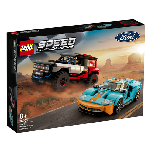 LEGO Speed Champions 76905 Ford GT Heritage Edition en Bronco R