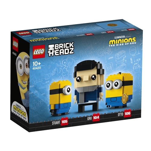 LEGO Brickheadz 40420 Gru, Stuart en Otto