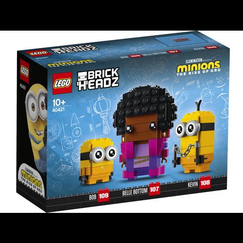 LEGO Brickheadz 40421 Belle Bottom, Kevin en Bob