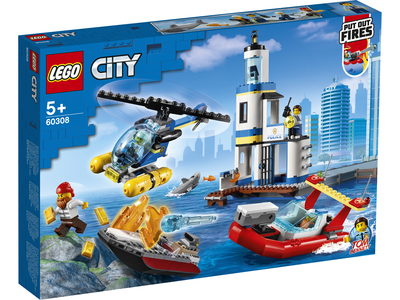 LEGO City 60308 Kustpolitie en brandmissie