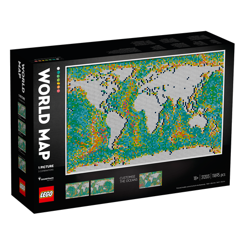 LEGO Art 31203 Wereldkaart