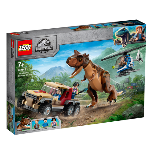 LEGO Jurassic World 76941 Achtervolging van dinosaurus Carnotaurus