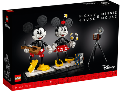 LEGO Disney 43179 Mickey Mouse & Minnie Mouse personages om zelf te bouwen