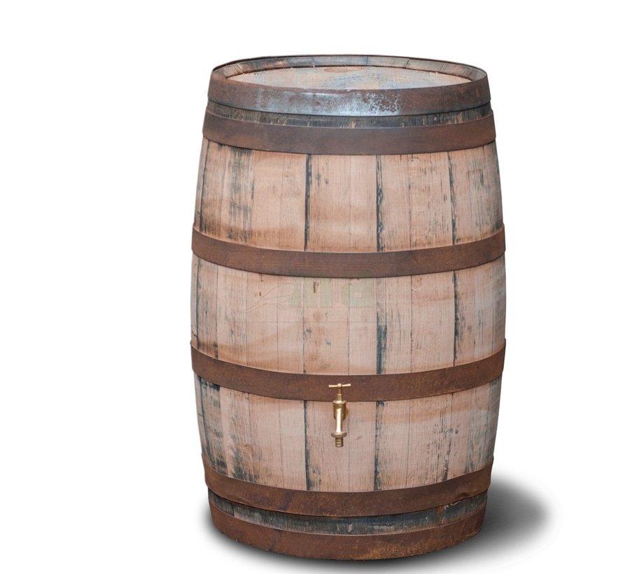 Regenton 195 liter - Oud Whisky vat - Geschuurd