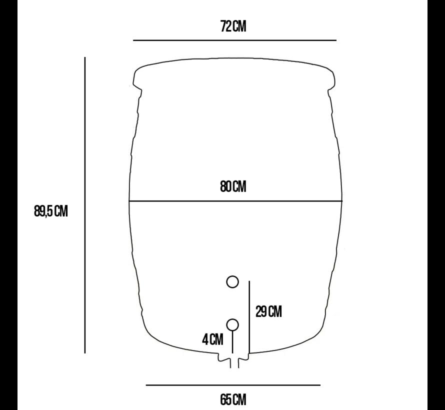 Regentonset Roto 350 liter + Voet + Vulautomaat