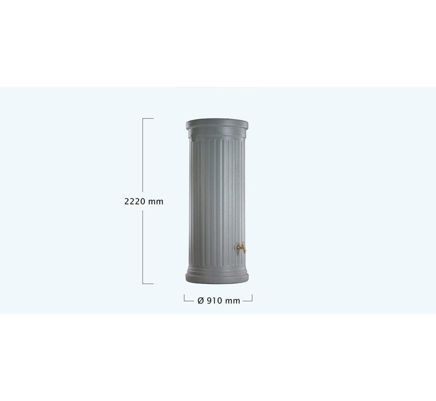 Regenton Column - 1000 liter - Grijs