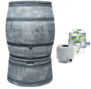Roto Regentonset Roto 240 liter + voet + vulautomaat - Grijs