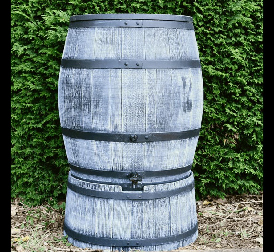 Regentonset Roto 240 liter + voet - Grijs