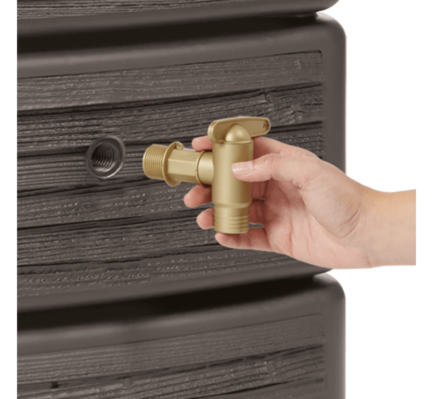 Regenton Slim - Wood Decor Dark - 300 Liter
