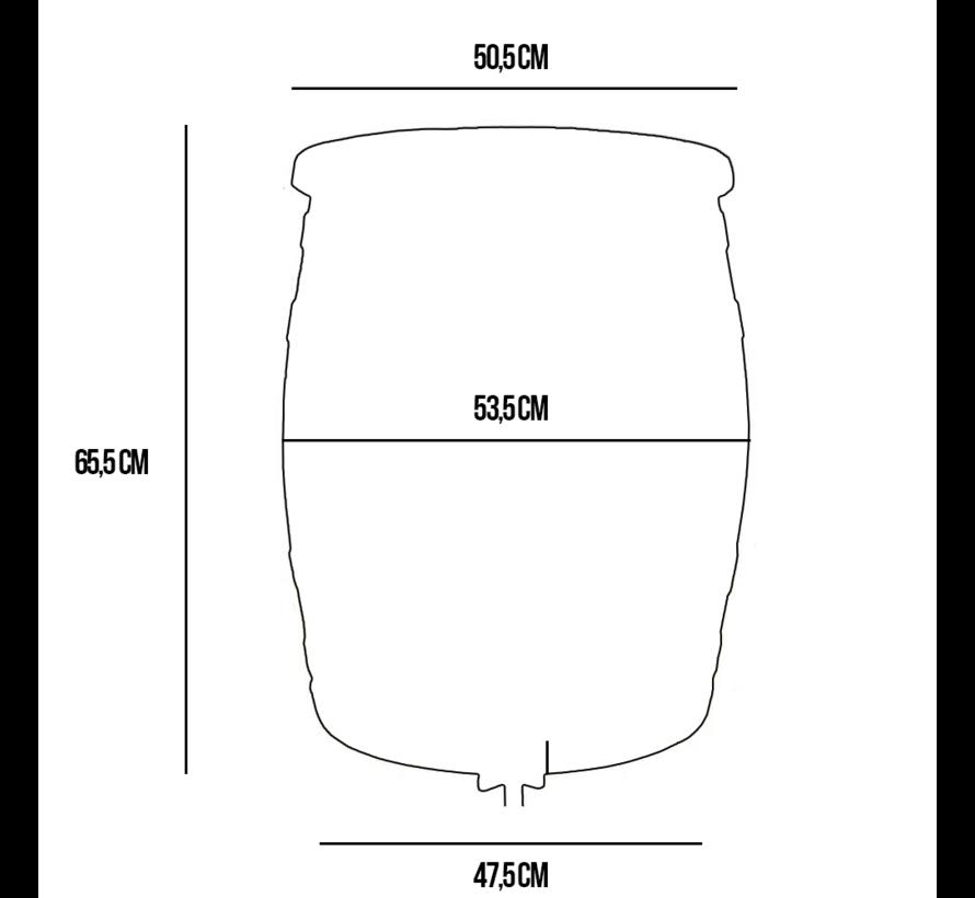 Regentonset Roto 120 Liter + Voet + Vulautomaat - Grijs