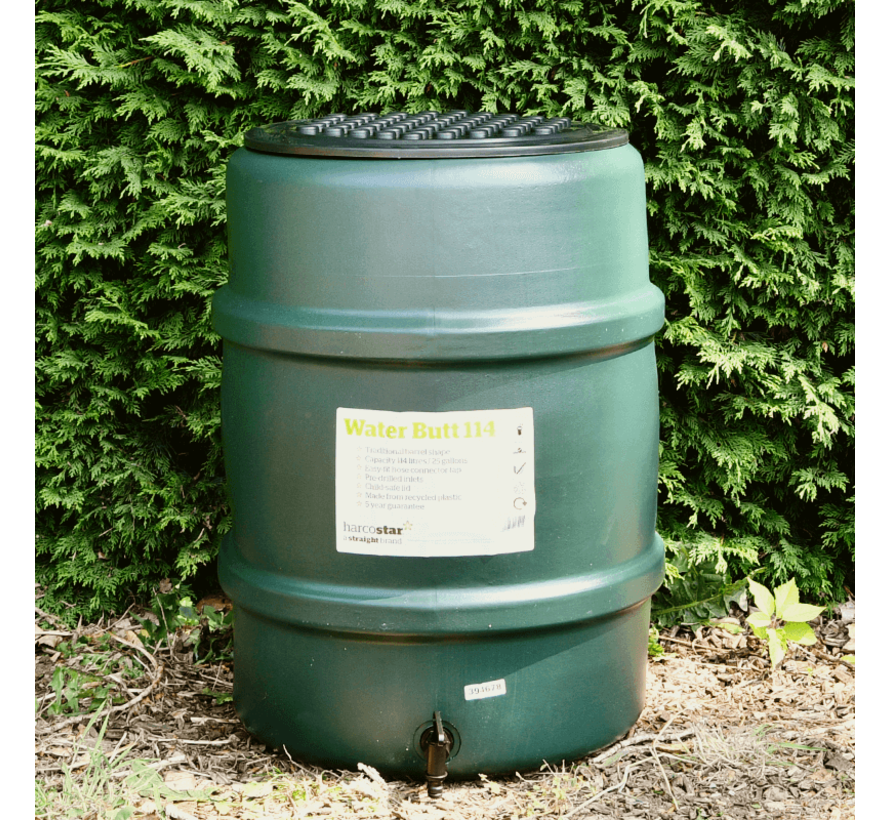 Regentonset Harcostar - 114 Liter Groen + Voet + Vulautomaat