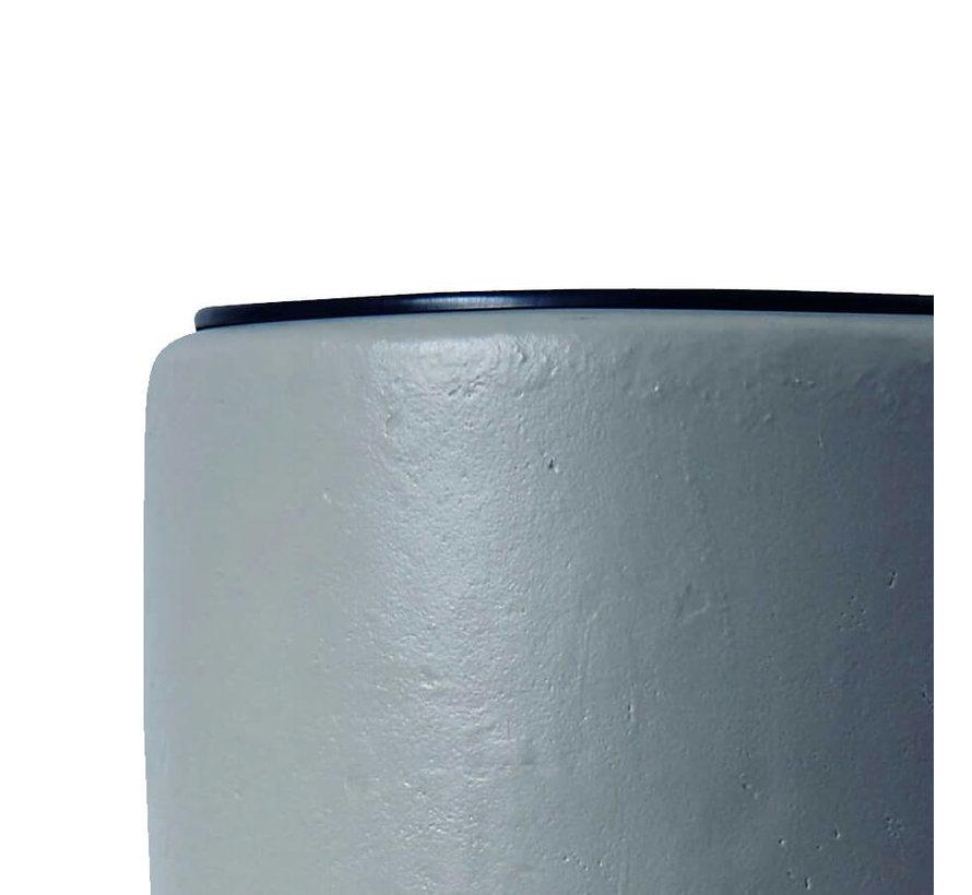Regenton met Plantenbak 2 in 1 Grijs 300 liter