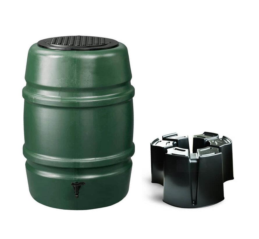 Regentonset Harcostar - 114 Liter Groen + Voet